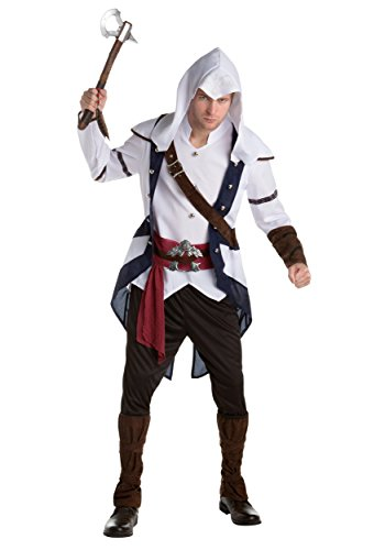 Palamon Men's Assassin's Creed Connor Classic Costume, White, (Assassin Creed Movie Costume)