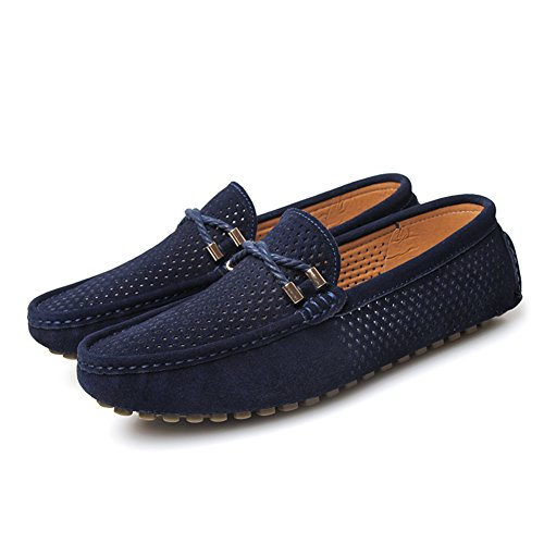 Go Tour Mens Casual Slip On Driving Loafers Moccasins Shoes Blue 0jw9m7AiaR