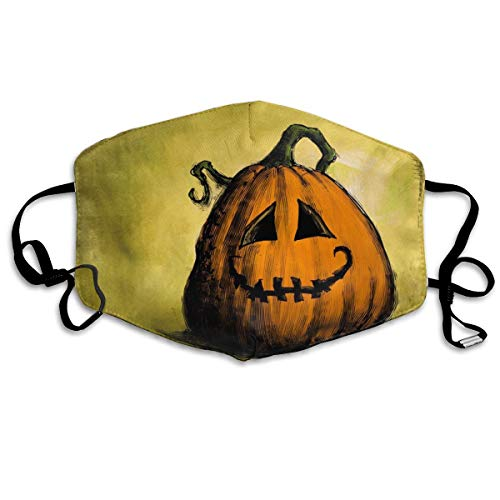 OHMYCOLOR Cartoon Halloween Pumpkin Pattern Face Mouth Mask Unisex Fashion Breathable Anti-Dust Polyester Healthy Masks -