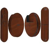 Skinomi TechSkin - Google Nexus Player Dark Wood Full Body Skin Protector / Front & Back Wrap / Premium HD Clear Film / Ultra Invisible and Anti-Bubble Crystal Shield