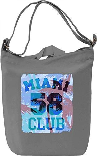 Miami Club 58 Borsa Giornaliera Canvas Canvas Day Bag  100% Premium Cotton Canvas  DTG Printing 