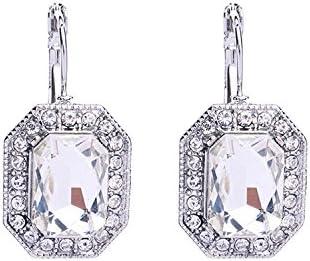 Pendientes de piedras preciosas con geometría de cristal retro Joyas europeas y americanas Pendientes sencillos de moda