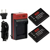 EZOPower 2 x Replacement EN-EL19 Lithium-Ion Battery + Home Wall Travel Charger Kit for Nikon COOLPIX S3500 S6800...