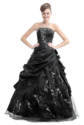 Kmformals Damen Wulstige Trägerlosen Langen Prom Kleid Formale ...