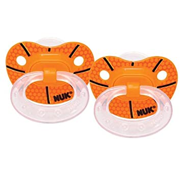 Amazon.com : Nuk Sports Classic Silicone Orthodontic Pacifiers ...