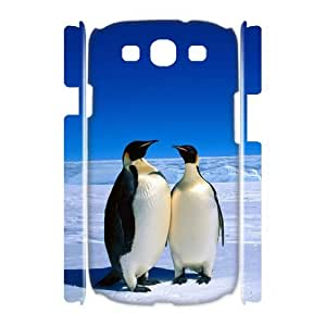 Samsung Galaxy S3 I9300 Penguin 3D Art Print Design Phone Back Case Custom Hard Shell Protection JK064610