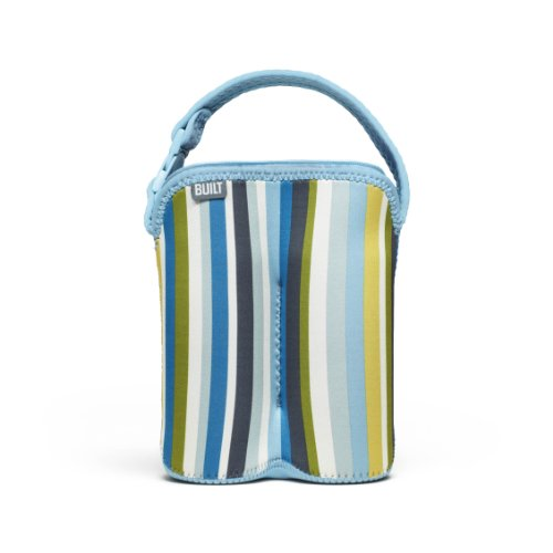 Built Bottle Buddy Two Bottle Tote, In Baby Blue Stripe