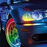 RayShop - Super Bright Blue Flashing LED Tire Light (2-Pack)