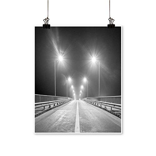 for Home Decoration Empty Freeway at Night for Home Decoration No Frame,32