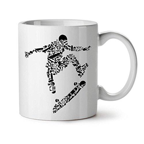 Skateboard Trick Sport White Tea Coffee Ceramic Mug 11 | - Way Federal Commons In