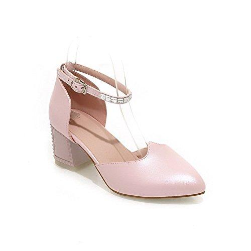 Adee Mujer kitten-heels Poliuretano antideslizante Sandalias Rosa