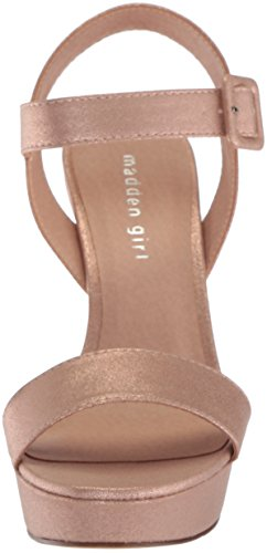 Madden Girl Women's Rolloo Heeled Sandal Rose Gold with credit card for sale vbCXUn