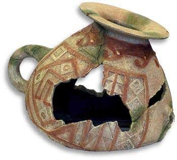 (Blue Ribbon Incan Vase Ornament )