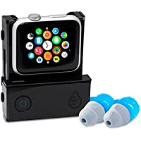 Waterfi Apple Watch Music Swim Kit - Listen to music from your Apple Watch while swimming - Bluetooth enabled clip and Waterproof Short Cord Headphones (42mm)