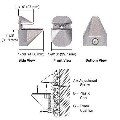 C.R. LAURENCE DL631BN CRL Brushed Nickel Adjustable Shelf Bracket - PAIR