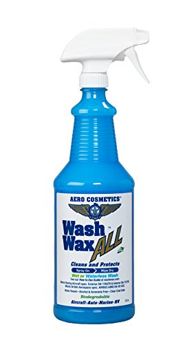 Waterless Car Wash Wax Aircraft Quality Wash Wax for your Car RV & Boat (32 Ounce)