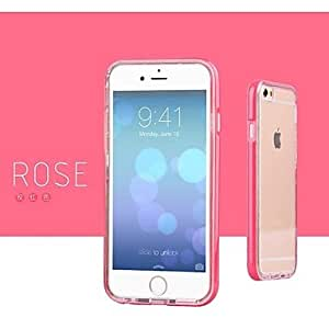 Flashing Light Two-Piece Outfit Soft Case for iPhone 6 (Assorted Colors) , Rose