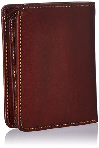with ID Front Cowhide Wallet Tony Design Brown Window Perotti Minimalist Italian Card Flap Vertical Multi Leather with Mens Passcase by Pocket made Slots Bifold Leather Real Holder 1qxSfIwz