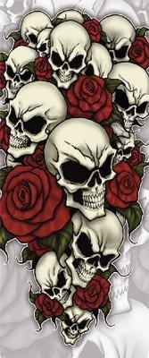Missing Link Armpro Sleeves , Gender: Mens/Unisex, Size: XL, Distinct Name: Bones N Roses, Primary Color: White APBR-X by Missing Link