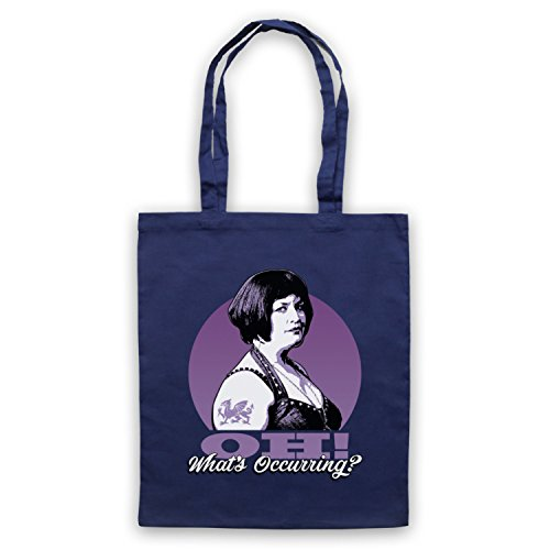 Inspired by Gavin & Stacey Ness Oh Whats Occurring Unofficial Tote Bag Navy blue