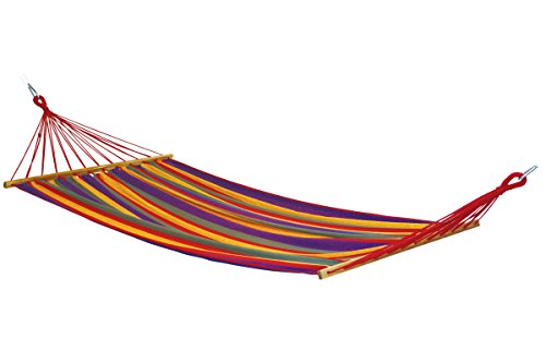 BYER OF MAINE Mauritius Hybrid Hammock, Weather-Resistant EllTex Recycled Polyester/Cotton Blend Fabric, Anti-Tipping Deep Pocket Design, Extra Wide Single Size, 130