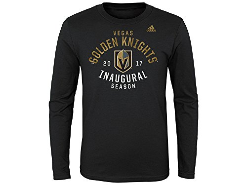 fan products of Vegas Golden Knights NHL Youth Inaugural Season Long Sleeve T-Shirt (Youth Large 14/16)