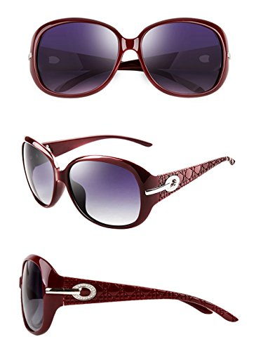 ATTCL Polarisées de UV400 Femmes Lunettes Rouge soleil Vintage gwfagR