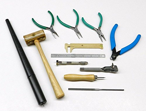 WIRE WRAPPING TOOL KIT JEWELRY MAKING WIRE BEAD WORK PLIERS & HAND TOOLS SET 12 (LZ 1.10 FRE)