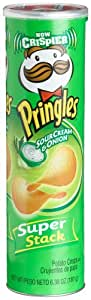 Pringles Potato Crisps Super Stack, SourCream & Onion, 6.38-Ounce Tubes (Pack of 14)