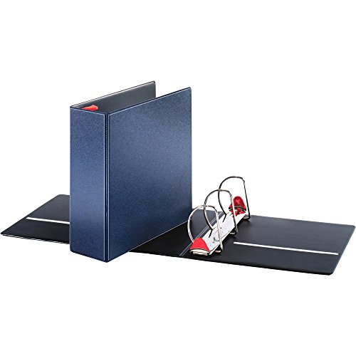 Cardinal Brands, Inc. Locking D-Ring Binder, 4amp;quot; Cap, 11amp;quot;X8-1/2amp;quot, Dark Blue