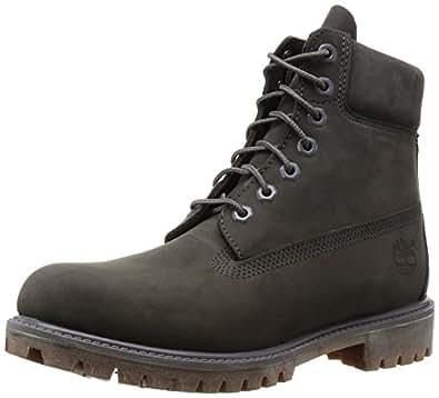 "Timberland Men's Classic 6"" Premium Boot, Black Nubuck, 6.5 W US"