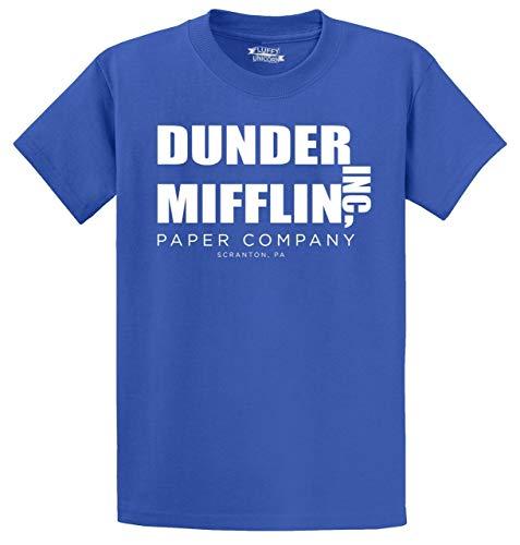 Mens Tv Shows (Men's Heavyweight Tee Dunder Mifflin A Paper Company Funny TV Show Shirt Royal Blue)