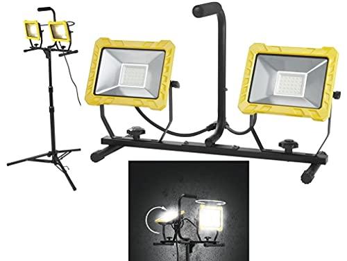 LED Baustrahler Strahler Arbeitsstrahler mit Stativ Fluter Arbeitsleuchte Strahler Außenlampe Fluter Baustrahler