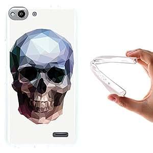 Funda Vodafone Smart Ultra 6, WoowCase [ Vodafone Smart Ultra 6 ] Funda Silicona Gel Flexible Calavera de Cristal, Carcasa Case TPU Silicona - Transparente