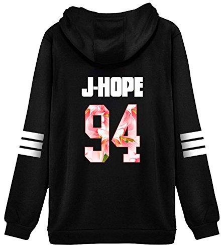 (BTS Bangtan Boys V Sweater Shirt JIMIN JIN SUGA Shirt Jacket Pullover J-hope 94 Black)