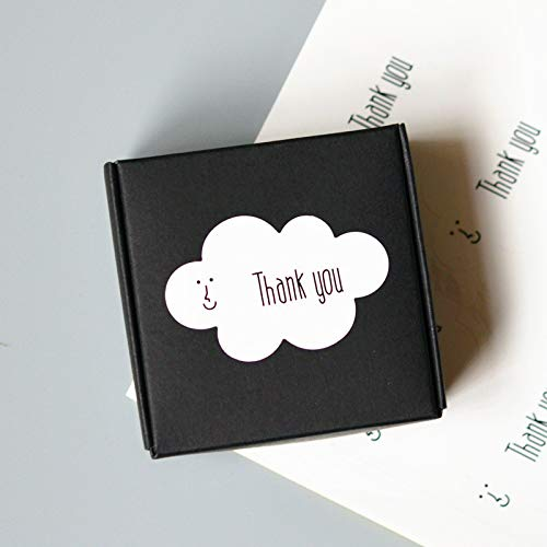 160 Thank You Stickers Cloud Shaped for Parties, Events, Celebrations, Holidays, Small Businesses, and -