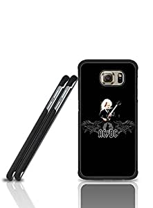 S6 Edge Funda Case ACDC Logo Cool Pattern With Hard Plastic Material Phone Protection & Durable Tough Rugged Protictive Funda Case Cover For Samsung Galaxy S6 Edge (Not for S6 / S6 Edge Plus)