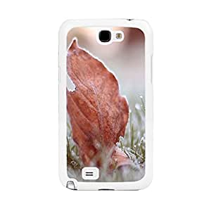 Four Seasons Natural Scenery Charming Plants Print Snap on Case Cover Shell for Samsung Galaxy Note 2 N7100 Hard Plastic Phone Case (BY220: Pastel Leaf)