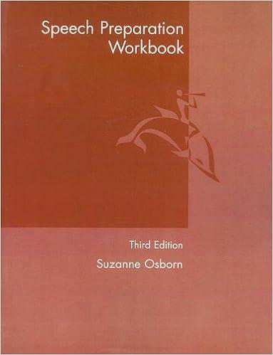 speech preparation workbook 3rd edition