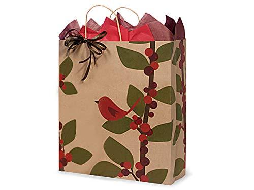 Reina pájaro rojo bayas 100% reciclado bolsas de papel ...