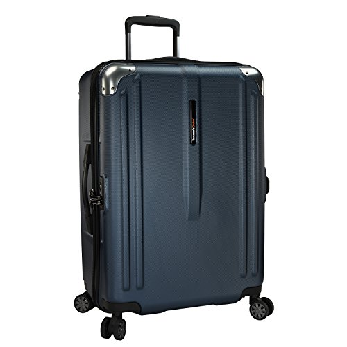 travelers-choice-new-london-100-polycarbonate-trunk-spinner-luggage-navy-26-inch-