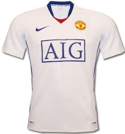 Nike Manchester United Trikot Away weiß blau Herren Manu Gr. XL