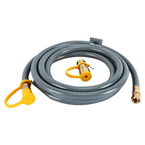 Yaegoo 12 Foot Natural Gas and Propane Gas Hose Assembly 3/8