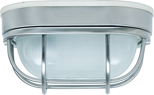 Craftmade Z396-SS Bulkhead Outdoor Marine Flush Mount Ceiling Lighting, 1-Light 60 Watt (5