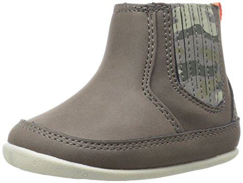 Carter's Every Step Boys' Connor Stage 2 Standing Boot,, Grey/Camo, 4 M US Toddler