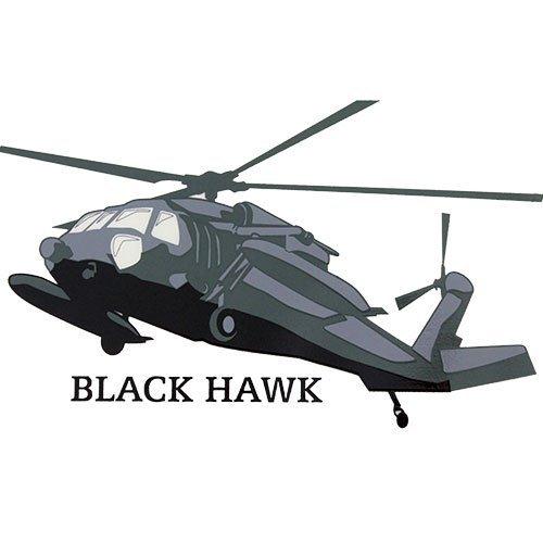 U.S. Army Black Hawk Helicopter Clear Decal