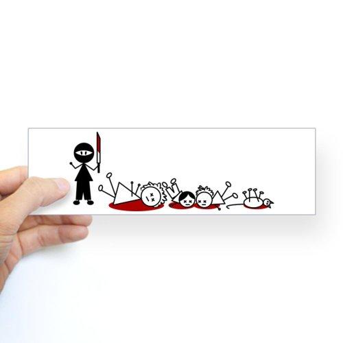 CafePress Ninja Stick Figure Massacre Window Decal Sticker Bumper - Standard