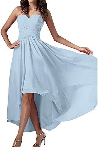 Chiffon Ivydressing Abendkleider Einfach Herzform Damen Ballkleid Festkleid Partykleid Himmelblau wqHSqTI