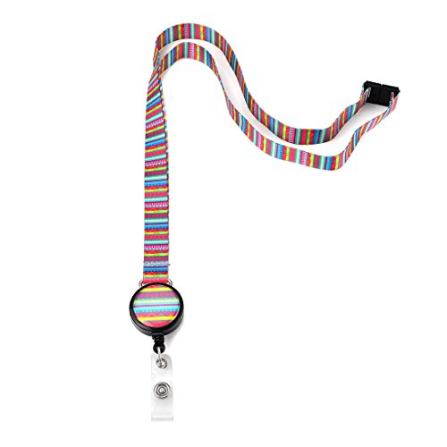 Grekywin Retro Style Lanyard Keychain, ID Badge Holder, Card Holder for Business Id/key/cell Phone