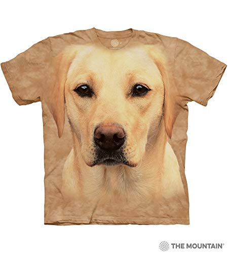 The Mountain Yellow Lab Portrait Adult T-Shirt, Sand, Large